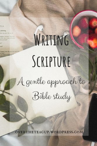 Writing Scripture